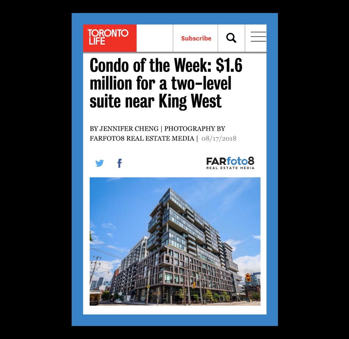 Toronto Life – Condo of the Week